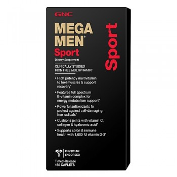 GNC MEGA MEN SPORT 180 капсул